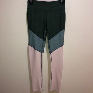 Outdoor Voices Size Small Green, Pink Leggings